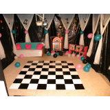Plancher blanc noir portatif en bois d'événement de Dance Floor de location d'usager