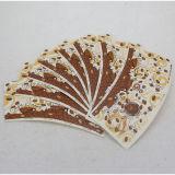 Pâte de bois de papier estampée par coutume de ventilateur de cuvette de café de Chine