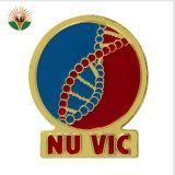 Logotipo de la cinta de opciones personalizada alfiler de metal de la Organización de esmalte Badge