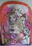 Schönen attraktiven Gilrs Kind-Schule-Karikatur-Schulter-Rucksack