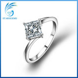 형식 Style Gift를 위한 1 CT Princess Cut Moissanite Silver Ring