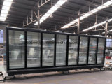 Il triplo ha lustrato il frigorifero del frigorifero della visualizzazione di Multideck del portello per i prodotti di latteria