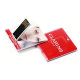 Mecanismo impulsor de la tarjeta de crédito cuadrado micro del flash 16GB del palillo del USB impermeable