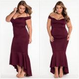 Kleid der Plusgröße reizvolles WegSchulter Nixe-Dame-Abend