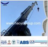 Fuzileiro naval hidráulico ou elétrico que gira o guindaste telescópico do crescimento