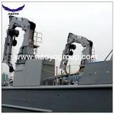 Grue hydraulique de soldat de marine de potence de boum de porte-fusée