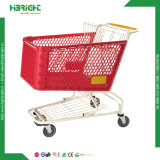 Haltbare Plastikeinkaufen-Laufkatze für Supermarkt