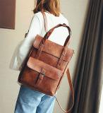 Сбор винограда Верхн-Регулирует Backpack повелительницы PU Backpacks кожаный (WDL0928)