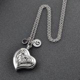 Collana del diffusore dell'olio essenziale di Aromatherapy di figura del cuore di modo