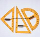 A régua plástica das fontes de escola, prolongador, ajustou o quadrado para a escola/professor/estudante