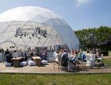 Diamètre de 7,5 millions Dome tente dôme transparent de 15m tente octogone tente chapiteau hexagonal