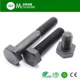 Bullone DIN933 di esagono placcato zinco nero del grado 12.9 di M12 M14