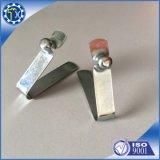 Clip fait sur commande de forme de v de tôle d'acier inoxydable avec des boutons