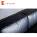 Самомоднейшая черная софа Италии реальная Nappa кожаный материальная секционная для живущий комнаты