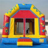 Ligações em ponte infláveis do partido, saltos da lua, castelo do divertimento (B1090)