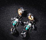 De hete Juwelen Van uitstekende kwaliteit van de Honing van de Bij van het Insect van de Oorringen van het Kristal van het Bergkristal van het Ontwerp van de Verkoop Nieuwe Elegante Zilveren/Gouden Gevoelige