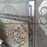 Mattonelle di mosaico Water-Jet di marmo cinesi del reticolo per il pavimento del Corridoio