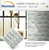 tuile de mosaïque grise en verre de mosaïque de tuiles de bande de 298X304X8mm pour la salle de bains