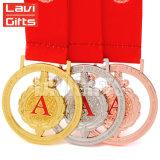 熱い販売カスタム亜鉛合金の創造的な勝利のきらめき賞メダル