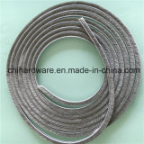 5*6mm Grey oder Black Wool Pile Weather Strip Pile Brush Silicon Felt, Adhesive