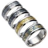 4colors de uitstekende Gouden Vrije Verschepende Ring van het Roestvrij staal van de Draak 316L