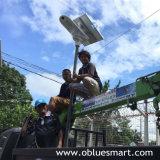 Fühler-Straßenlaterneder integrierter/einteiliger im Freiengarten-Solarprodukt-LED mit justierbarem Sonnenkollektor