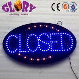 Segno aperto-chiuso acrilico al neon di colore completo LED