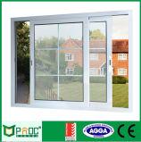 Fenêtre coulissante en verre en aluminium double vitrage avec certificat As2047