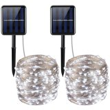 Angeschaltene kupferner Draht-Zeichenkette-feenhafte wasserdichte helle Solarlampe flexibel
