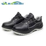 黒く低い足首の人のための鋼鉄つま先の安全靴