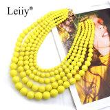 Halsbanden van de Manier van de Juwelen van de Bal van de Verklaring van de Vrouwen van Bohemen de Gele Acryl Multilayer