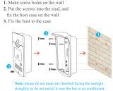 Аварийная система обеспеченностью системы внутренней связи телефона двери WiFi видео-