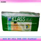Klass Bebeのパキスタンのための安い価格の通気性の赤ん坊のおむつ