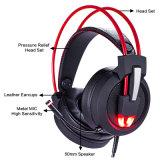 Alto-falante de 50 mm Professional elegante Microfone fone de ouvido para jogos para PC notebook (K-V9)