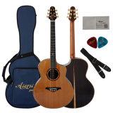 Горячая продажа высокое качество ручной работы дважды сверху акустическая гитара