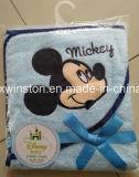 刺繍が付いている100%年の綿/タケ赤ん坊のフード付きタオル