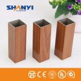Grãos de madeira Trsanfer perfil de alumínio extrudido de alumínio para porta de vidro