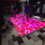 Festa de casamento do painel de vidro temperado Piso de dança RGB LED coloridos