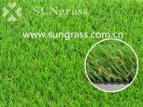 Erba verde resistente al fuoco del tappeto erboso dell'erba sintetica (SUNQ-HY00181)