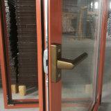 La madera y el polvo ahorros de energía cubrieron la ventana de aluminio de la inclinación y de la vuelta junto con ventana de aluminio arqueada Roto de la rotura termal superior del hardware con el obturador incorporado