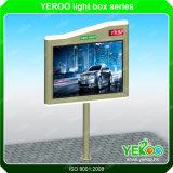 Bastidor de acero de la pantalla de publicidad exterior vallas publicitarias de mobiliario urbano