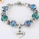 Lo stile di famiglia placcato modo incanta i branelli di vetro braccialetto ed i monili del braccialetto