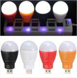 Flitslicht van de Toorts van de Lamp van de draagbare Mini LEIDENE USB Noodsituatie van de Bol maakte het Lichte Om het even welke Lader van Cellphone van het Pak van de Batterij vast