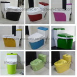 Keramische einteilige Toiletten-Farben-Toilette Siphonic leerende Brücke (A-009)