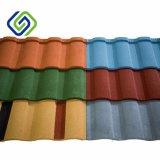 Usine vendant la tuile de toiture enduite en métal de pierre colorée neuve de lumière du soleil/la toiture ondulée tuile en métal/construction décorative