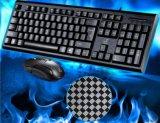 Preiswertes USB verdrahtetes Spiel-Computer-Standardtastatur-und Mäuseset