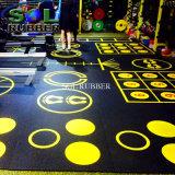 Fehlerfreie saugfähige spezielle Muster-Firmenzeichen-Gymnastik-Gummibodenbelag