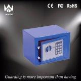 Rectángulo de depósito seguro azul del dinero con diseño de la manera