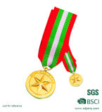 Newest Style Gold Sports Reward Medal with Bibbon