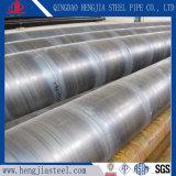 Tubo de acero espiral soldado A252 del acero de carbón de ASTM SSAW